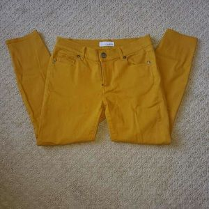Yellow Loft cropped jeans